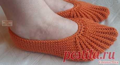 Тапочки-следки с эластичным носком - Вязание - Страна Мам