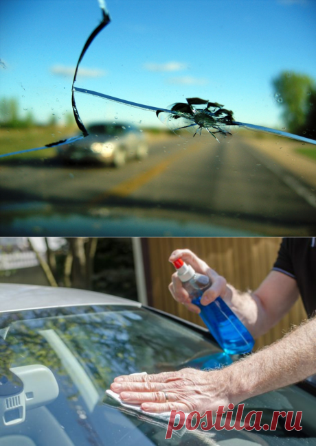 4 простых способа, как заклеить трещину на лобовом стекле своими руками