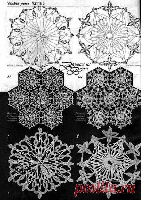 Вязание на вилке:  коллекция узоров.