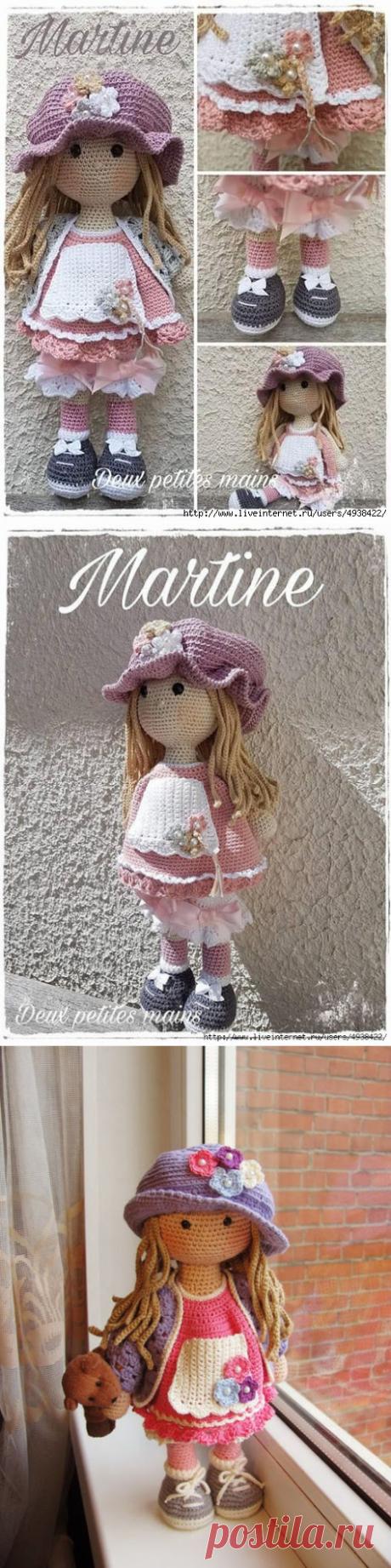 Очаровательная кукла Мартина. Описание работы