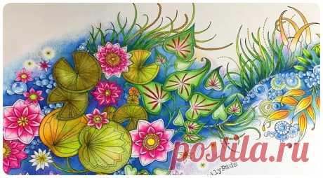 Водяная лилия. Урок от Chris Cheng