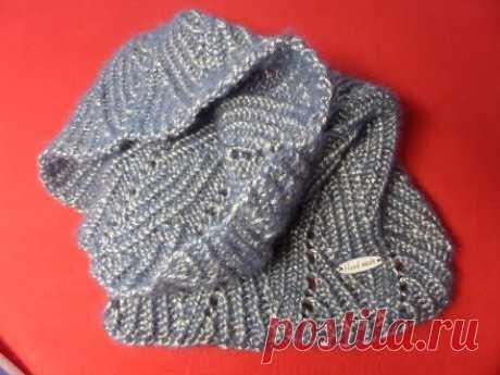 шарф снуд вязание спицами татьяна рогачий простые схемы