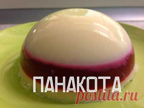 Панакота сливочно-вишневая на агаре