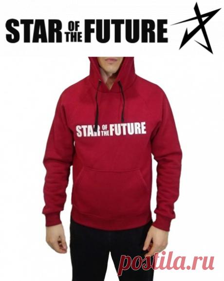 """Бордовый Худи LOGO """"Starofthefuture"""" - Star of the Future - Официальный Магазин"""