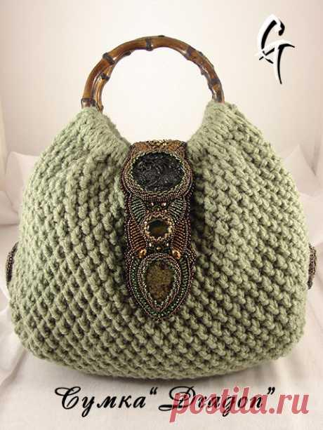 Необычные и удивительно красивые вязаные сумки Гульмиры Галиевой