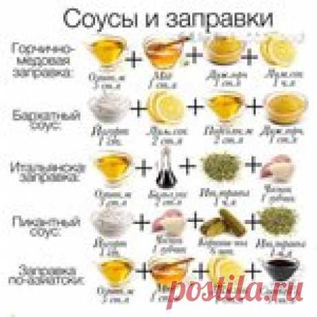 Вкусные соусы и заправки