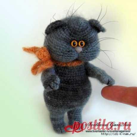 Вязаный кот Кузя — ХатаБогата