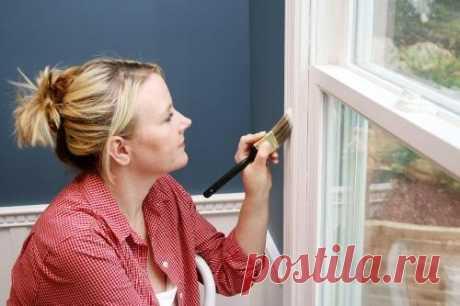 Как снять краску с окон? Способы удаления старой краски