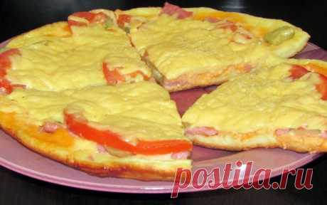 You will cope in 10 minutes: house recipe of quick tasty pizza