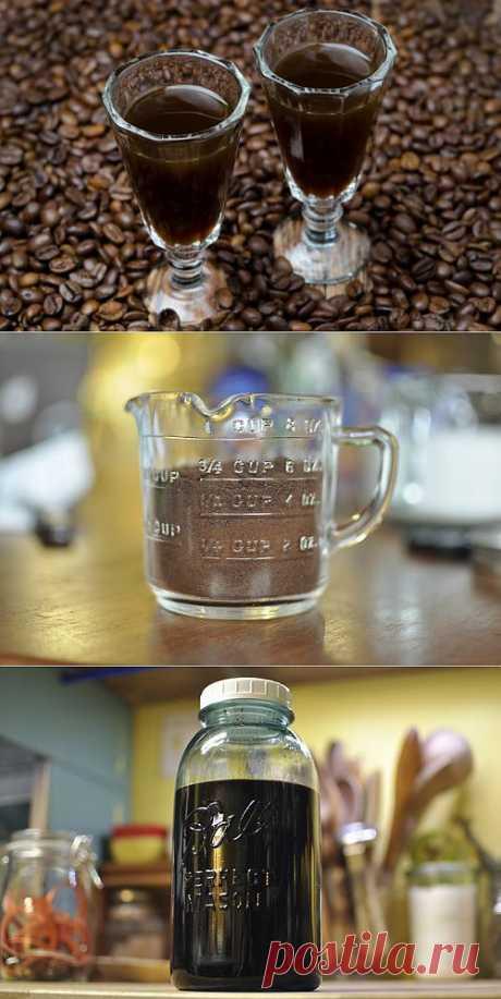 Готовим ликер из растворимого кофе, водки и коньяка   Лайфхакер