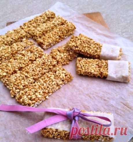 The recipe gozinaki from pearl barley