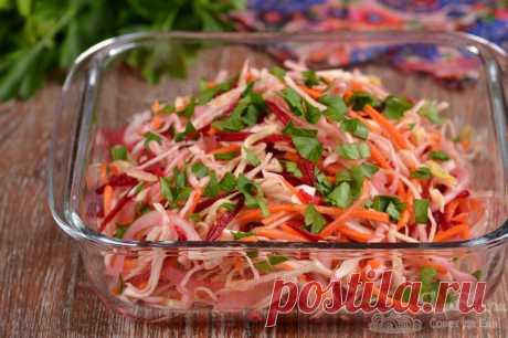 Капустный салат с морковью и свеклой | Совет да Еда | Яндекс Дзен
