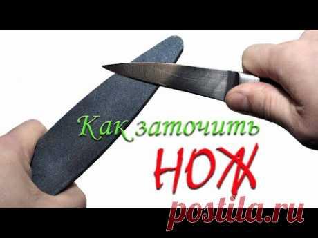 Супер хитрость при заточке ножа. Метод заточки ножа против шерсти.