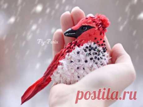 Удивительные птичьи броши Юлии Гориной   Люблю Себя