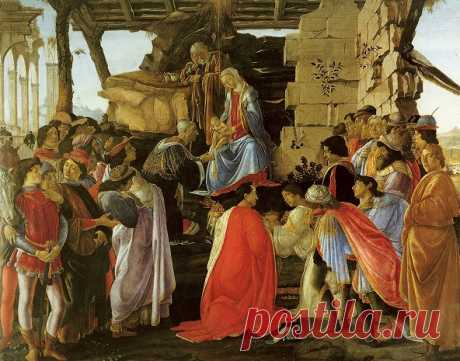 """Боттичелли  """"Поклонение волхвов"""". Около 1475"""