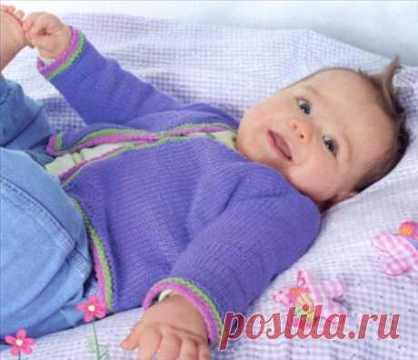 Жакет реглан для малыша (Вязание на спицах)   Журнал Вдохновение Рукодельницы