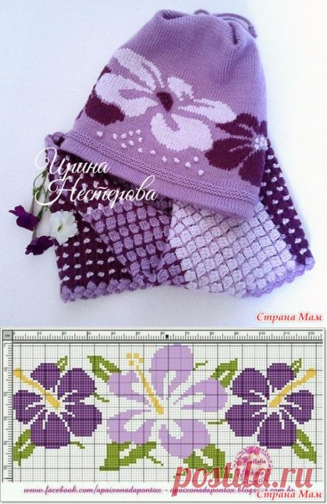 . Стильный комплект - двухсторонняя шапочка и два снуда - Вязание - Страна Мам