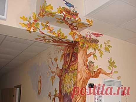 Роспись стен ипотолков - Студия художественного стекла М-Арт: фьюзинг, витражи, матирование, венецианское стекло.