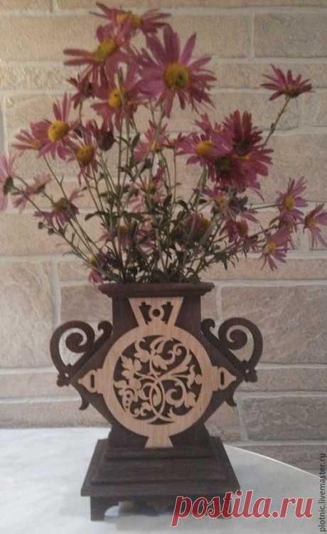 Купить Ваза для цветов - коричневый, ваза, ваза для цветов, ваза для сухоцветов, ваза для интерьера, цветы