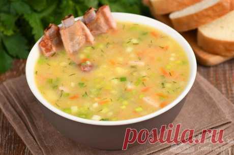 Гороховый суп из обычного гороха за 35 минут (рецепт с фото) | Совет да Еда | Яндекс Дзен
