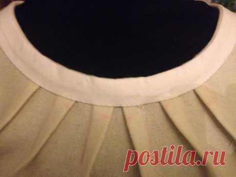 Обработка горловины и пройм косой бейкой (обтачный шов), без отделочной строчки