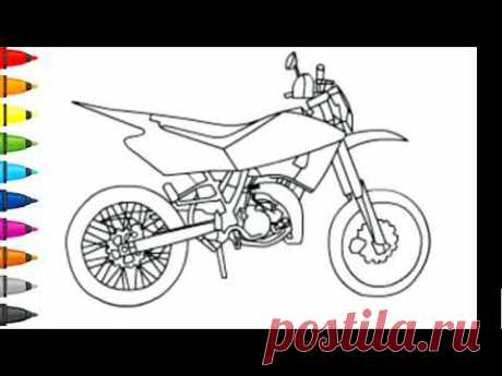 Coloring - How to draw motorcycle