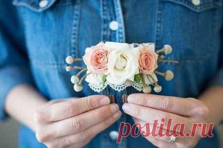 Цветочный гребешок своими руками / Богатая добыча