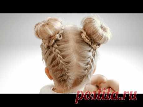 Весёлая Прическа Ушки Минни. Прически на длинные волосы - YouTube