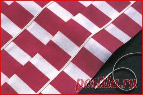 Создание ткани «из полос» (Шитье и крой)   Журнал Вдохновение Рукодельницы