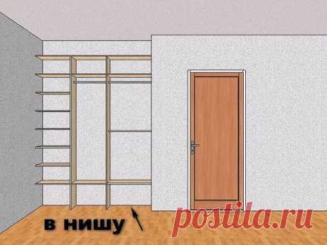 Как встроить шкаф-купе в нишу  Архитектурные ниши встречаются в различных помещениях квартиры: прихожей, гостиной, кухне, спальне, детской. Можно рационально использовать это пространство, разместив в нем шкаф, заполненный множеством вещей и предметов. Чтобы его встроить, нужно провести необходимые подготовительные работы.  Инструкция  1. Продумайте наполнениеСуществует много вариантов организации пространства ниши: полки, выдвижные ящики, штанги для одежды, корзины для бе...