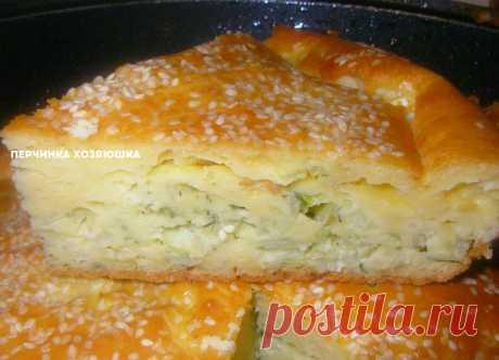 Заливной пирог с капустой - Перчинка хозяюшка