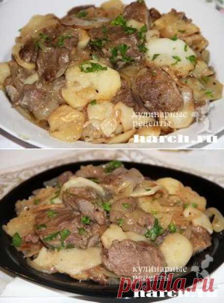Картофель по-китайски со свиными языками