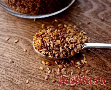 Шок-рецепт! Льняное семя для похудения!