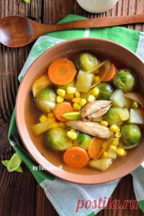 Суп с брюссельской капустой | Кулинарный блог Татьяны М.