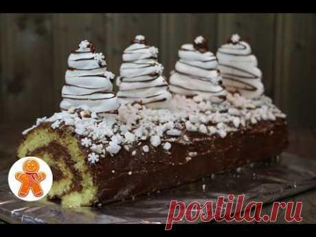 """Торт рулет """"Рождественское полено"""" ✧ Buche de Noel"""