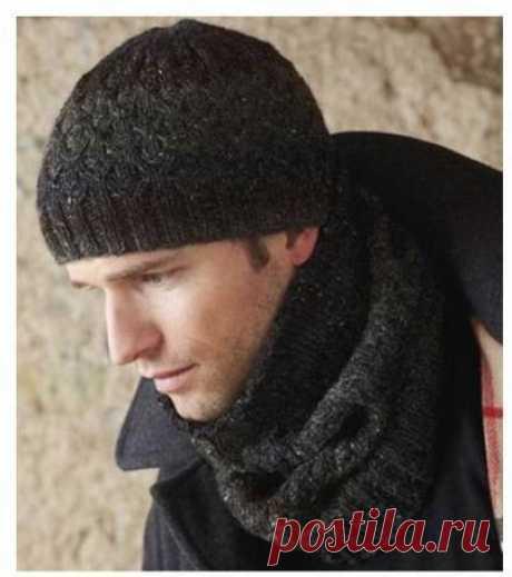 Твидовый комплект - снуд и шапка