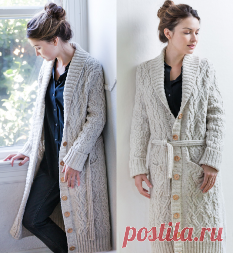 Knitted spokes Aspen cardigan | STAY-AT-HOME