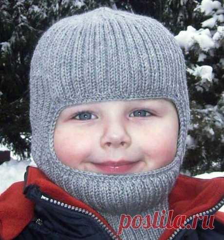 Как связать детскую шапку для мальчика спицами на осень, весну, зиму.