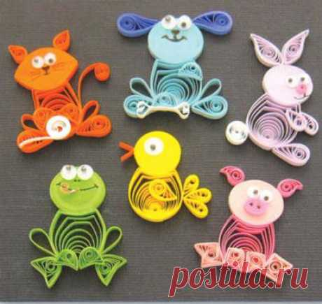 Animal Buddies - quilling by Quilled Creations