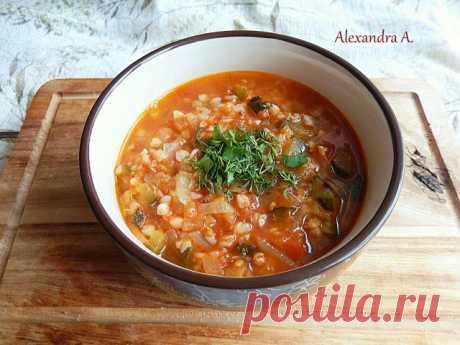 Суп из томатов с гречкой | Русская кухня