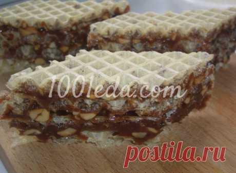 Вафельный торт Грильяж: рецепт с пошаговым фото - Быстрые торты без выпечки от 1001 ЕДА
