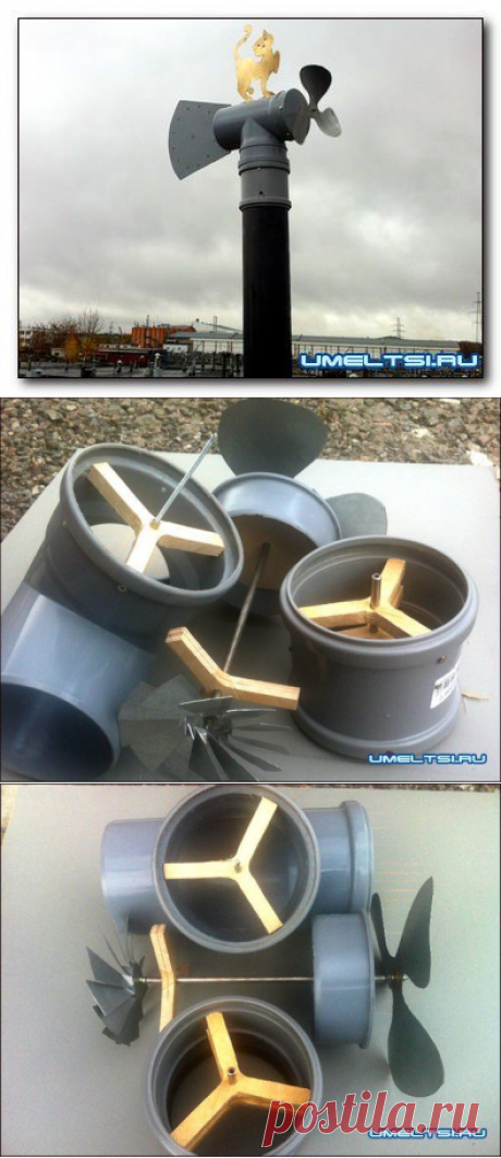 Ветровентилятор-флюгер для дачного туалета или погреба