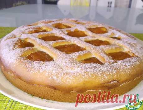 Быстрый пирог с вареньем из жидкого теста