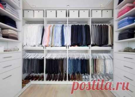 Обустройство гардеробной комнаты - фото, варианты дизайна и схемы планировки
