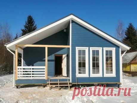 Одноэтажный дом по проекту К-18: ярко и удобно | СвойТеплыйДом | Яндекс Дзен