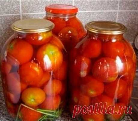 Мама посоветовала - сладкие помидоры без уксуса с корицей!