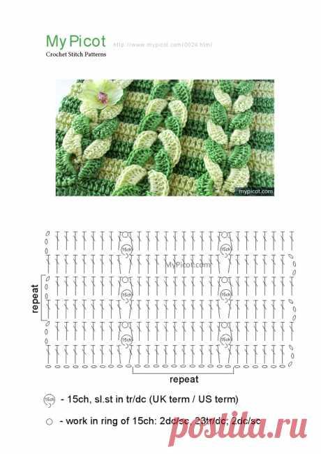 Узор с плетеной косичкой крючком — DIYIdeas