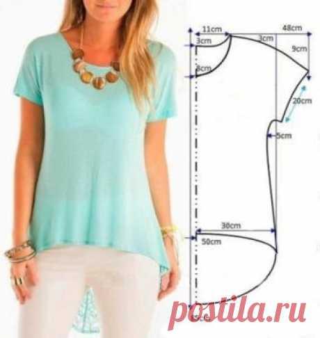 Как сшить блузку или платье своими руками БЫСТРО по одной выкройке | модница | Яндекс Дзен