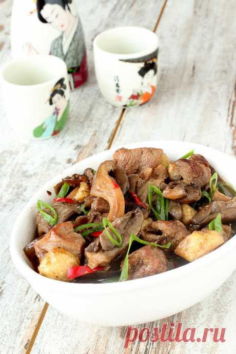 Простое, но вкусное блюдо! Утка с грибами   Вкусные рецепты