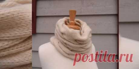 Вяжем уютный шарф-хомут